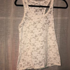 Gillyhicks racerback lace top
